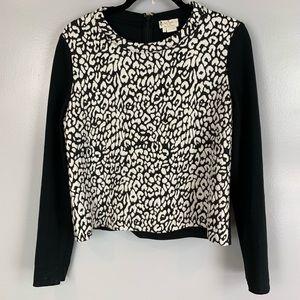 Kate Spade leopard print long sleeve shirt